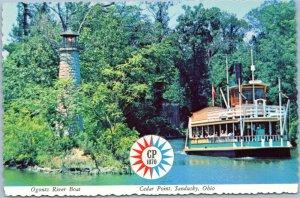 postcard Sandusky Ohio, Cedar Point - Ogontz River Boat