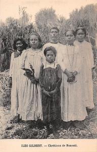 Iles Gilbert Chretiens de Nonouti Folklore Gilbert Island