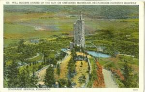 Will Rogers Shrine of the Sun on Cheyenne Mountain, Color...