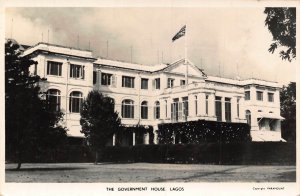 Nigeria Lagos The Government House 1956 real photo Postcard