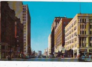 Kentucky Louisville Broadway Looking West 1960