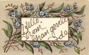 F79/ Grangeville Idaho Postcard c1910 Greetings from Grangeville