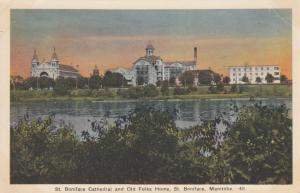 ST BONIFACE , Manitoba, Canada , 30-40s ; Cathedral & Old Folks Home