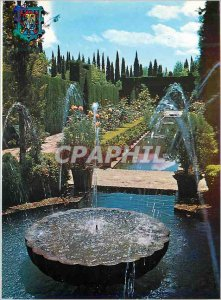 Postcard Modern Granada Generalife Gardens Netherlands
