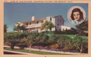 California Los Angeles Home Of Jane Withers Westwood Village