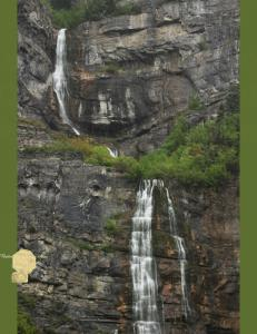 Set of 6 Handmade Postcards, Bridal Veil Falls Waterfall Provo Canyon Utah