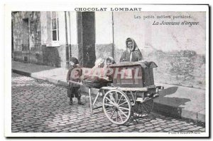 Old Postcard Chocolate Lombard Paris Small Parisian trades of the player & # ...
