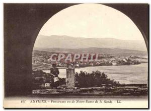 Postcard Old Antibes Panorama Seen From Our Lady of the Guard