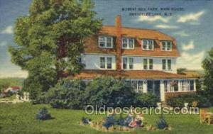Murray Hill Farm, Shandelee, NY, USA Farming Old Vintage Antique Postcard Pos...