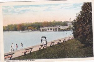 Minnesota Minneapolis Strolling Along Lake Harriet 1922
