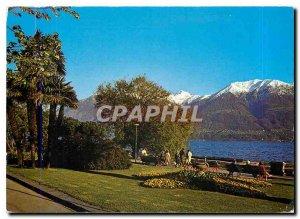 Modern Postcard Locarno Lago Maggiore Giardini Lungolago