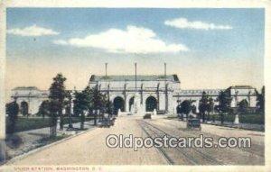 Union Station, Washington DC, District of Columbia, USA Depot Railroad 1917 v...