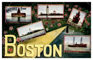 Massachusetts Boston , Multi-view , Lighthouses,