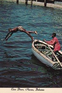 NASSAU, Bahamas, 1950-1960's; Coin Divers