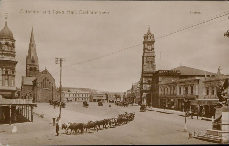 Cathedral and Town Hall Grahamstown South Africa marche tower clock