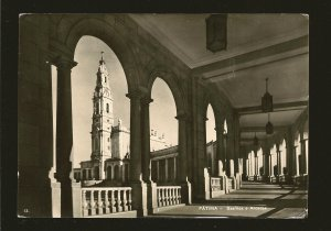 Postmarked 1960 Fatima Portugal Fatima Basilica Arcate Real Photo Postcard