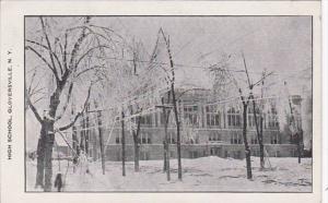 New York Gloversville High School In Winter