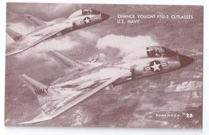 Chance Vought F7U-3 Cutlasses Navy Jet Fighter Aircraft