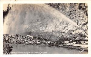 A47/ Chititu Alaska AK Photo RPPC Postcard Hydraulic Gold Mining Placer Mine 40s