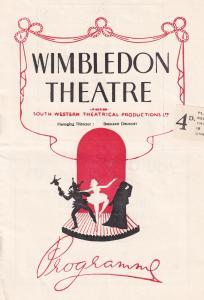 Hogarth BBC Circus Puppet Show Antique Wimbledon Theatre Programme