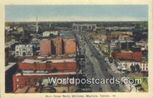 Winnipeg, Manitoba Canada, du Canada Main Street North  Main Street North