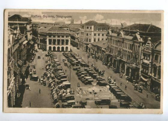 151566 SINGAPORE Raffies Square Vintage postcard