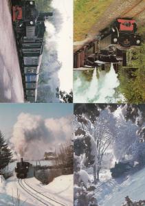 Steyr Museum Austria 4x Train Postcard s