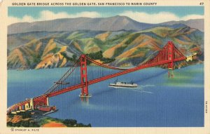 Postcard Golden Gate Bridge San Francisco California