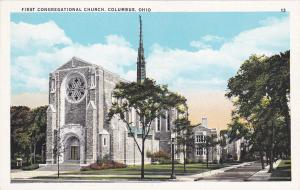 COLUMBUS , Ohio , 10-20s ; First Congregational Church