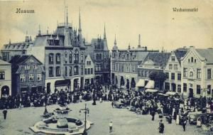 HUSUM HÜSEM, Wochenmarkt (1910s) AK