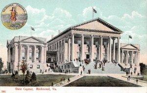 LPS56 Richmond Virginia State Capitol Building Postcard