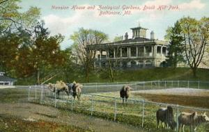 MD - Baltimore. Druid Hill Park Mansion House and Zoological Gardens