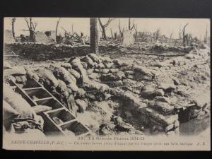 WW1 La Grande Guerre 1914-15 NEUVE CHAPELLE Ces ruines furent prises d'assaut