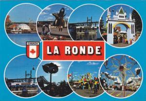 8 Views of La Ronde Amusement Park, Ferry Boat, Roller Coaster, Montreal, Que...