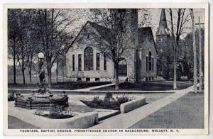 Fountain, Baptist Church, Wolcott NY
