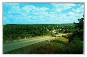 Bird's-Eye View of Punxsutawney PA Driving into Town c1960 Postcard I16
