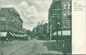 Brockton Massachusetts~Main Street~5&10c Store~Goldthwaite Block~Trolleys~1905