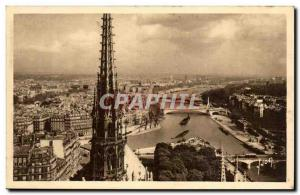 Paris - 4 - Panoramic Tours of taking Notre Dame - Old Postcard