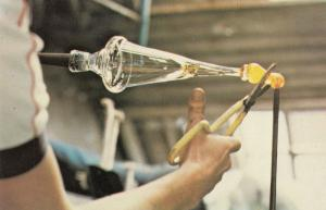 Shaping Wine Glass 1970s Factory Crafts Postcard