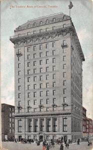 Toronto Ontario~Traders Bank of Canada~Horse Buggies~1910 Postcard