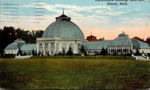 Michigan Detroit Belle Isle Horticultural Building 1915 Curteich