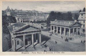 BERGAMO ,  Italy, 1900-10s ; Porta Nuova con Panorama di Citta Alta