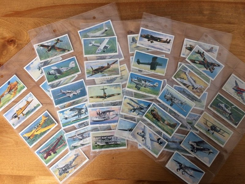 GB 1930s Plane | Aircraft | Player Cigarettes Cards. Complete Series of 50