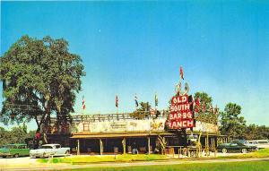 Old Town FL Orland FL Old South Bar-B-Q Ranch Old Cars Postcard