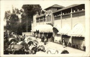 Moctezuma Restaurant Mexico c1940 Real Photo Postcard