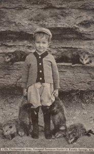 Little Photographer Gray, Youngest OPOSSUM Hunter in EUREKA SPRINGS , Arkansa...