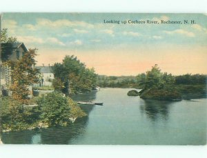 Divided-back RIVER SCENE Rochester New Hampshire NH AE6648