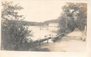LPN44 Bridgeton New Jersey City Park Lake View Postcard RPPC