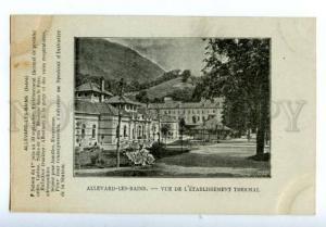 132912 FRANCE ALLEVARD-LES-BAINS rest advertising Vintage PC