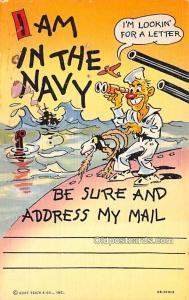 Military Comic Postcard, Old Vintage Antique Post Card Curt Teich & Co, Inc, ...